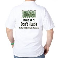 Pool Hall Hustler Rules Golf Shirt