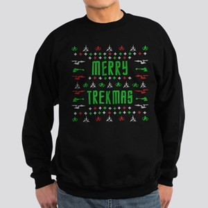 merry trekmas star trek ugly chr Sweatshirt (dark)