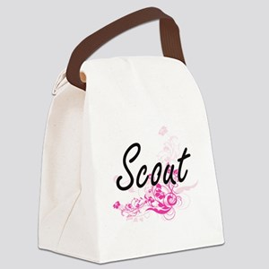Scout Artistic Job Design with Fl Canvas Lunch Bag