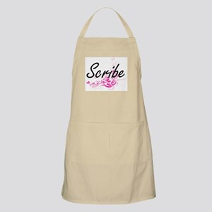 Scribe Artistic Job Design with Flowers Apron