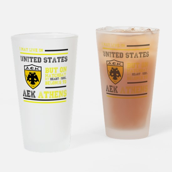 AEK FC USA Drinking Glass