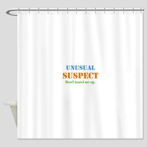 Unusual Suspect Shower Curtain