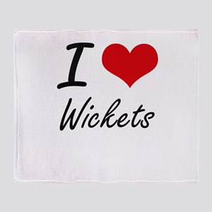 I love Wickets Throw Blanket