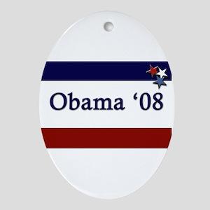 Obama '08 Oval Ornament