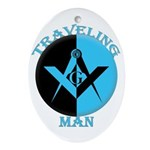 The Traveling Man Oval Ornament