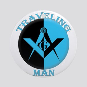 The Traveling Man Round Ornament
