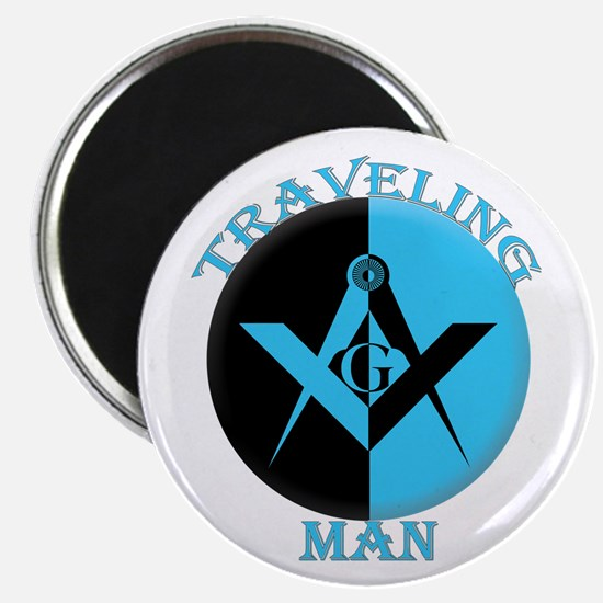 """The Traveling Man 2.25"""" Magnet (10 pack)"""