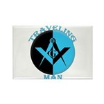 The Traveling Man Rectangle Magnet (100 pack)