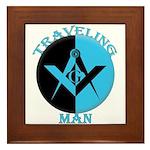 The Traveling Man Framed Tile