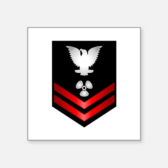 "Cool Naval officer Square Sticker 3"" x 3"""
