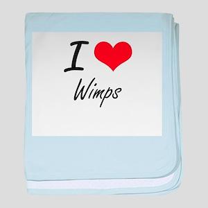 I love Wimps baby blanket