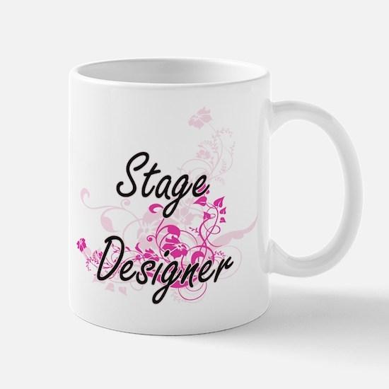 Stage Designer Artistic Job Design with Flowe Mugs