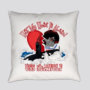 Half My Heart - Seawolf Everyday Pillow