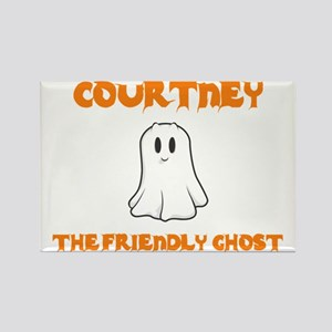 Courtney the Friendly Ghost Rectangle Magnet (10 p