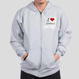 I love Wishbones Zip Hoodie