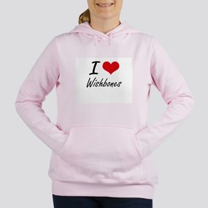 I love Wishbones Women's Hooded Sweatshirt