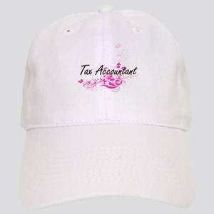 Tax Accountant Artistic Job Design with Flower Cap