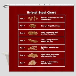 Bristol Stool Chart Shower Curtain