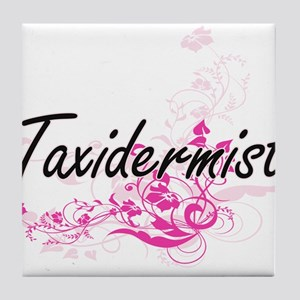 Taxidermist Artistic Job Design with Tile Coaster