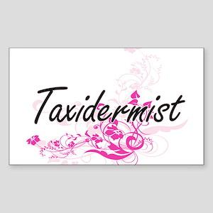 Taxidermist Artistic Job Design with Flowe Sticker