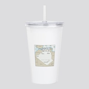 Algerian Map Acrylic Double-wall Tumbler