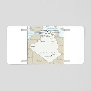 Algerian Map Aluminum License Plate