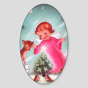 Vintage Christmas Image 4 Sticker (Oval)