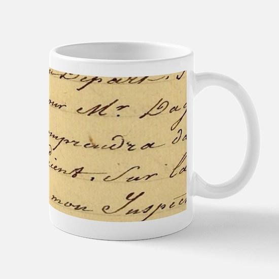 shabby chic french script Mugs
