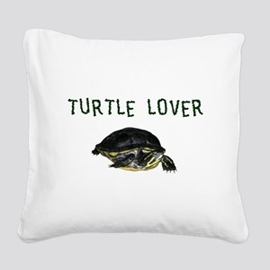 turtle_lover Square Canvas Pillow