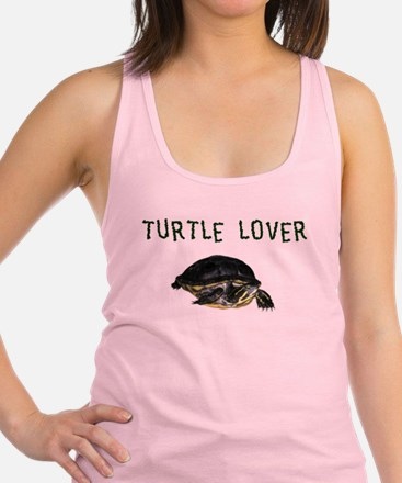 turtle_lover.jpg Racerback Tank Top