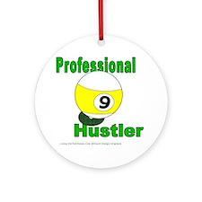 Pro 9 Ball Pool Hustler Round Ornament