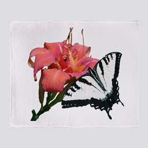 butterfly_flower_watercolor3 Throw Blanket