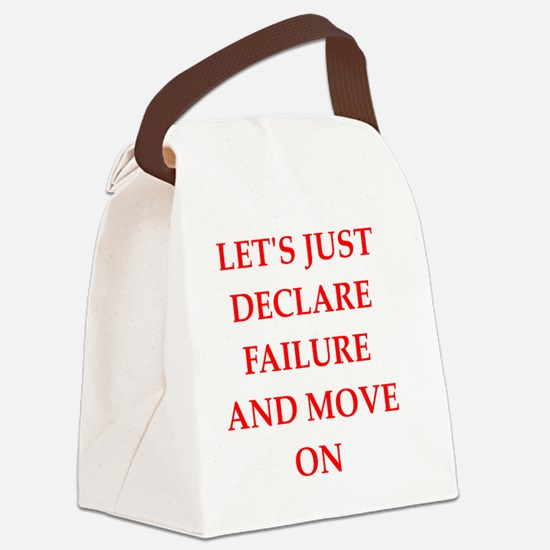 Cute Defeated Canvas Lunch Bag
