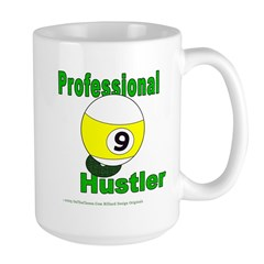 Pro 9 Ball Pool Hustler Large Mug