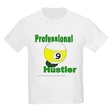 Pro 9 Ball Pool Hustler Kids Light T-Shirt