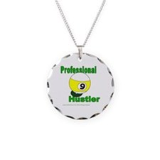 Pro 9 Ball Pool Hustler Necklace Circle Charm