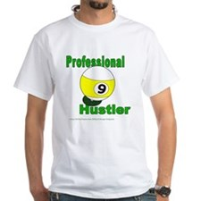 Pro 9 Ball Pool Hustler White T-Shirt