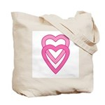 Double Hearts & Hearts Mandala Tote Bag