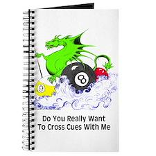 Cross Cues Pool Playing Dragon Journal