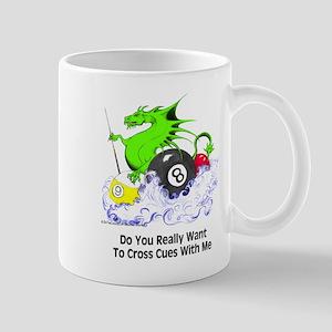 Cross Cues Pool Playing Dragon Mug