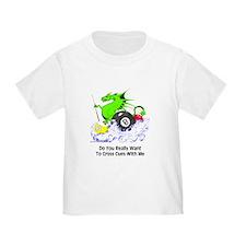 Cross Cues Pool Playing Dragon Toddler T-Shirt