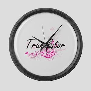 Translator Artistic Job Design wi Large Wall Clock