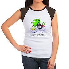 Dragon Playing Pool Junior's Cap Sleeve T-Shirt