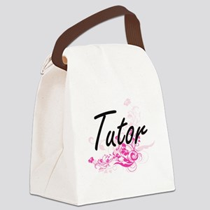 Tutor Artistic Job Design with Fl Canvas Lunch Bag