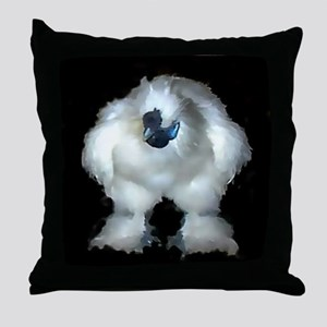 Silkie Rooster Chicken Throw Pillow