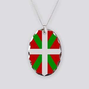 Basque Flag Necklace Oval Charm
