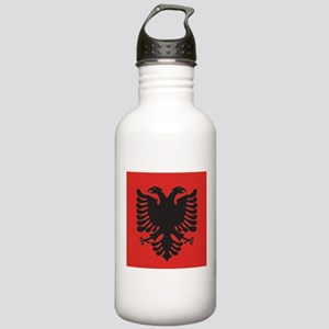 Albanian Flag Stainless Water Bottle 1.0L