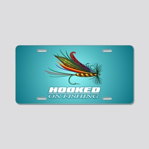 Hooked On Fishing (Fly) Aluminum License Plate