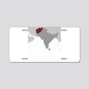 Afghanistan Locator Aluminum License Plate