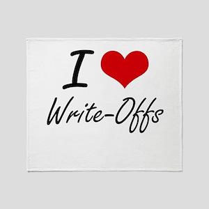 I love Write-Offs Throw Blanket